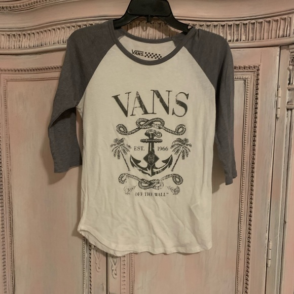 Vans Tops | Guc Vans 34 Length Tshirt Small | Poshmark